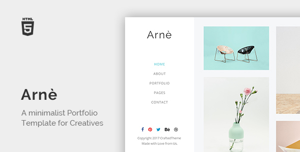 Download Arne - Minimal Creative Portfolio Template Portfolio Blogger Templates