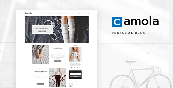 Download Camola - Personal Blog PSD Template focused on Blogger, Traveler, Photographer needs with PSD Files Travel Blogger Templates
