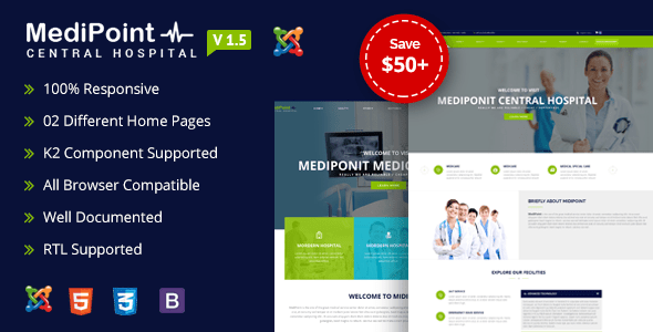 Download MediPoint | Joomla Medical Template Hospital Joomla Templates
