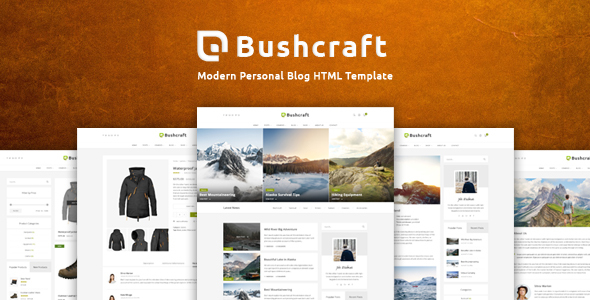Download Bushcraft - Personal Blog HTML Template Blog Html Templates