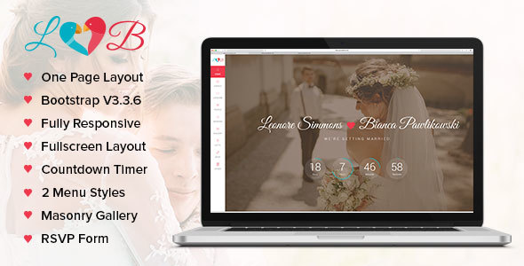Download Lovebirds - Responsive Wedding HTML Template Wedding Html Templates