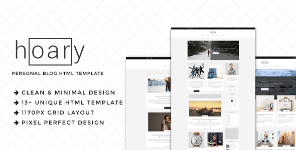 Download Hoary - Minimal Blog HTML Template Blog Html Templates