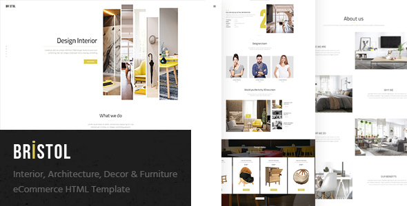 Download Bristol - Interior / Architecture / Decor & Furniture eCommerce HTML Template Furniture Html Templates