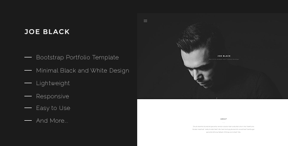 Download Joe Black-Bootstrap Portfolio Template White Html Templates