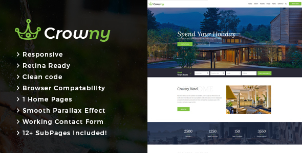 Download Crowny : Resort and Hotel HTML Template Hotel Html Templates