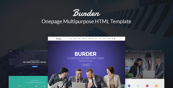 Download Burder - Responsove Business, Corporate & Agency HTML Template Amp WordPress Themes