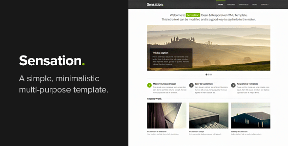 Download Sensation - Responsive HTML Template Responsive Html Templates