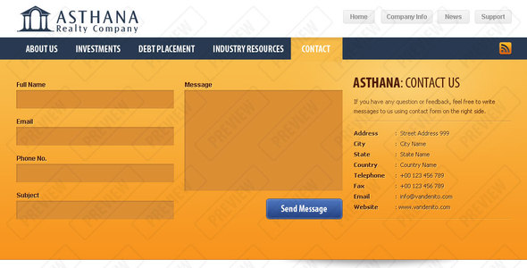 Download Asthana Realty Real Estate Joomla Templates