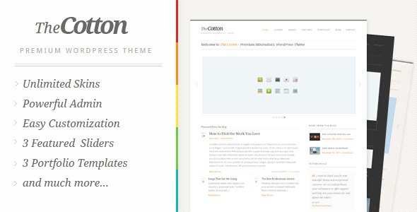 Download The Cotton - Powerful Minimalistic WordPress Theme Minimalist WordPress Themes