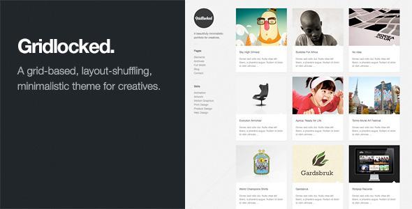 Download Gridlocked: Minimalistic WordPress Portfolio Theme Minimalist WordPress Themes