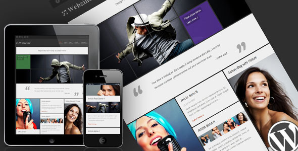 Webzine Magazine & Portfolio Responsive WordPress Theme - ThemeForest Item for Sale