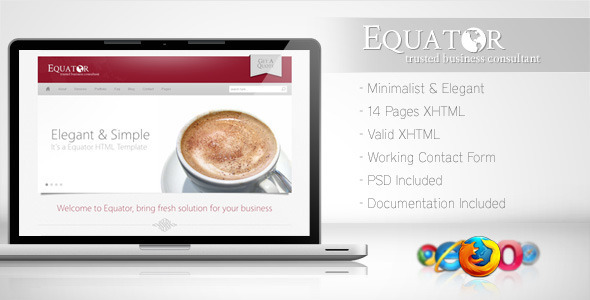 Download Equator - Minimalist Business Template 5 Red Html Templates