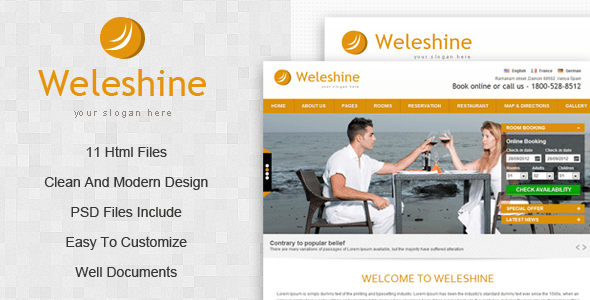 Download Weleshine Hotel Template Red Html Templates