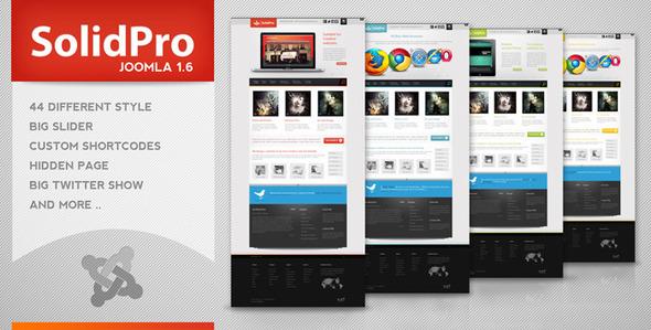 Download Solid Pro - Creative Joomla  Red Joomla Templates