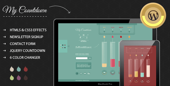 Download MyCountdown – WordPress Coming Soon Page  Coming Soon WordPress Themes