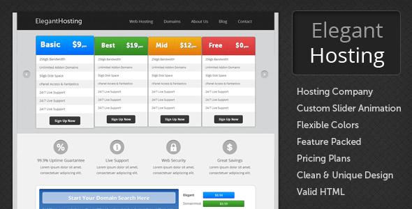 Download Elegant Hosting - HTML Hosting Template Elegant Html Templates