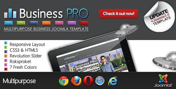 Download Business Pro - Clean Responsive Joomla Template Clean Joomla Templates