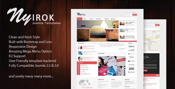 Download Nyirok - Responsive Portfolio & Business Templates White Joomla Templates