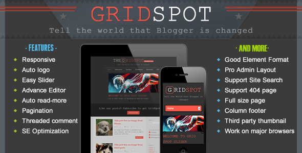 Download Grid Spot - Responsive Blogger Template Grid Blogger Templates