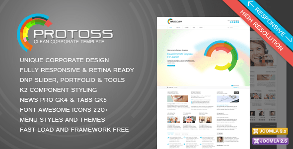 Download Protoss Clean Corporate Template For Joomla! Fast Load Joomla Templates
