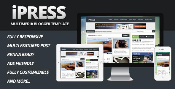 Download  iPress - Multimedia Blogger Template Portal Blogger Templates