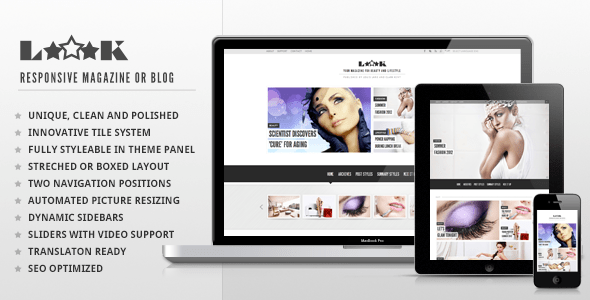 Download Loook - Responsive Magazine or Blog Pinterest WordPress Themes