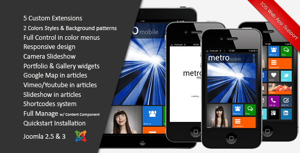 Download Metro Mobile :: Premium Joomla Mobile Template  Blog Joomla Templates