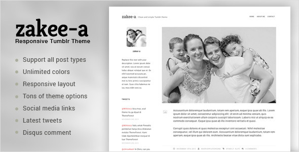 Download Zakeea-A | Clean and Simple Tumblr Blog Theme Simple Tumblr Themes