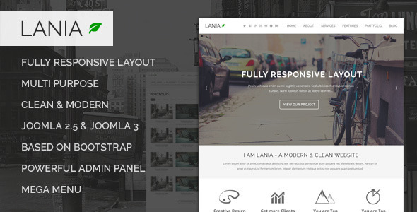 Download Lania - Responsive Joomla Template Event Joomla Templates