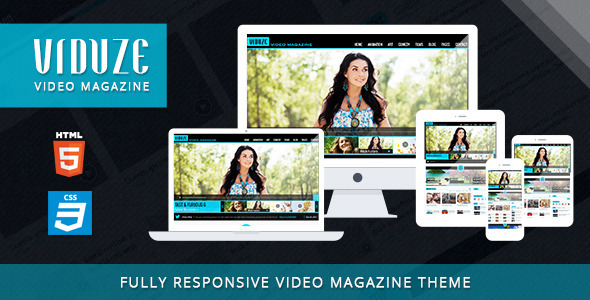 Download Viduze - Video Magazine HTML Template Magazine Html Templates