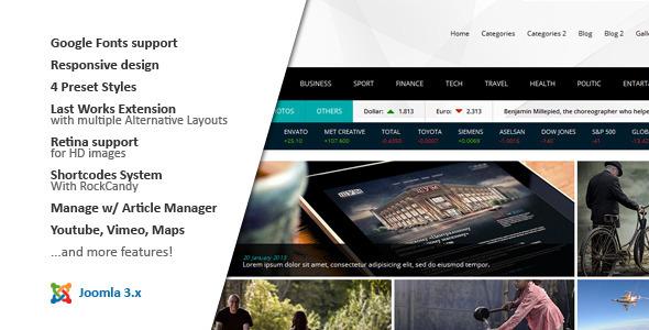 Download NEWS24 :: 4 in 1 News/Magazine Joomla Template Magazine Joomla Templates