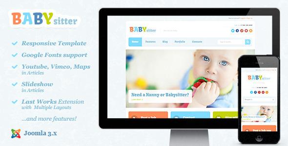 Download Babysitter :: Responsive Joomla Template Responsive Joomla Templates