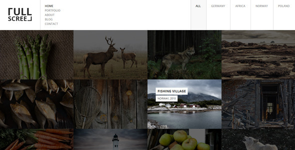 Download FULLSCREEN – Photography Portfolio HTML5 with Shop Black Joomla Templates