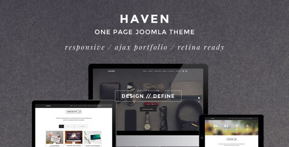 Download Haven - Elegant One Page Joomla Template Elegant Joomla Templates