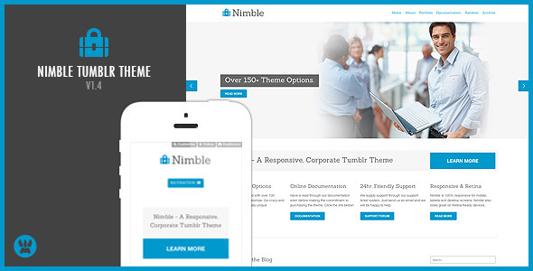 Download Nimble - A Responsive Business Tumblr Theme Simple Tumblr Themes