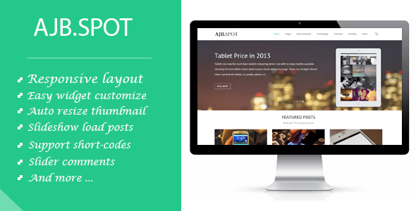 Download Ajbspot | Responsive MultiPurpose Blogger Template Portfolio Blogger Templates