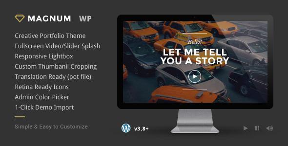 Download Magnum - Creative Portfolio WordPress Theme Youtube WordPress Themes