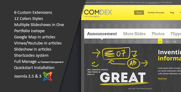 Download ComDex :: Clean and Modern Joomla Template Modern Joomla Templates