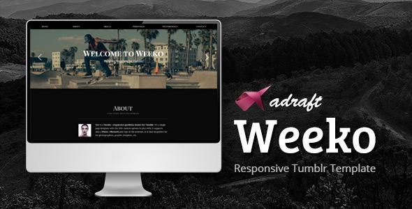 Download Weeko - Responsive Portfolio Tumblr Theme Photo Gallery Tumblr Themes