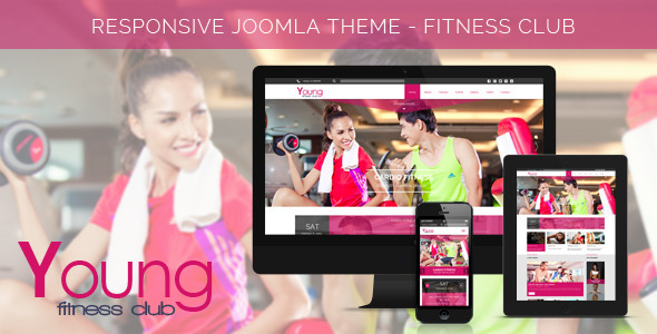 Download Young Fitness - Spa & Fitness Joomla Template Youtube Joomla Templates