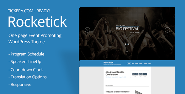 Download Rocketick - Responsive Events WordPress Theme Event WordPress Themes