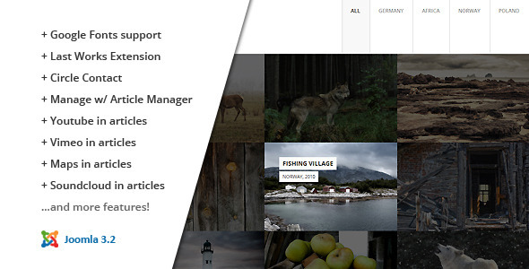 Download FULLSCREEN :: Photography Joomla Template Html5 Joomla Templates