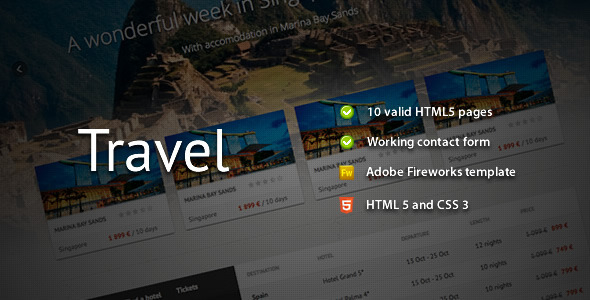 Download Travel - Premium HTML Template Travel Html Templates
