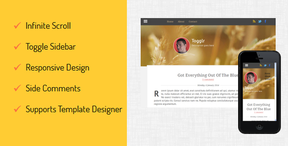 Download Togglr - Clean Responsive Blogger Template Responsive Blogger Templates
