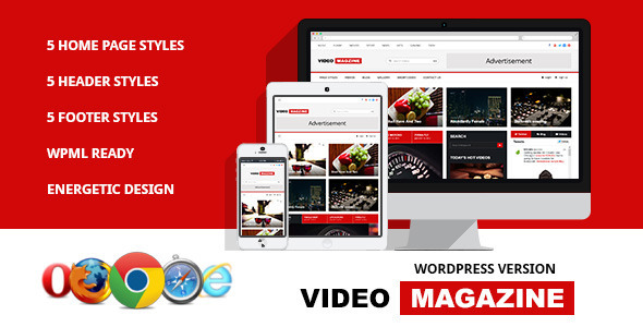 Download Video Magazine - WordPress Magazine Theme 3 Column WordPress Themes