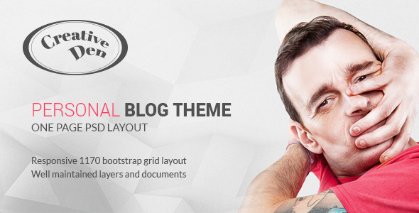 Download Bloggers Den - One Page Personal Blog Template Blog Blogger Templates