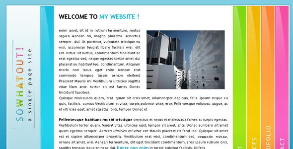 Download sowhtout Portfolio Blogger Templates