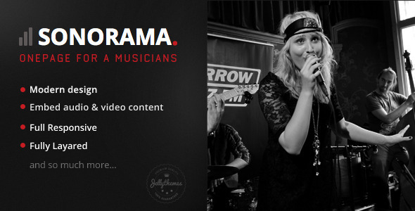 Download Sonorama - Onepage Music Template Onepage Blogger Templates