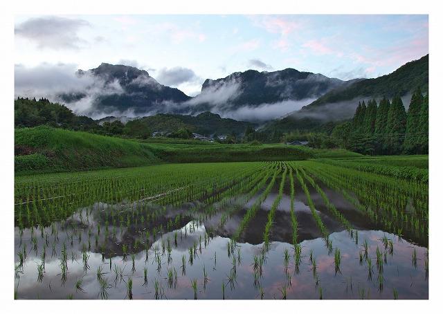 JA宮崎経済連フォトコンテスト2015最優秀賞「行縢の田園風景」