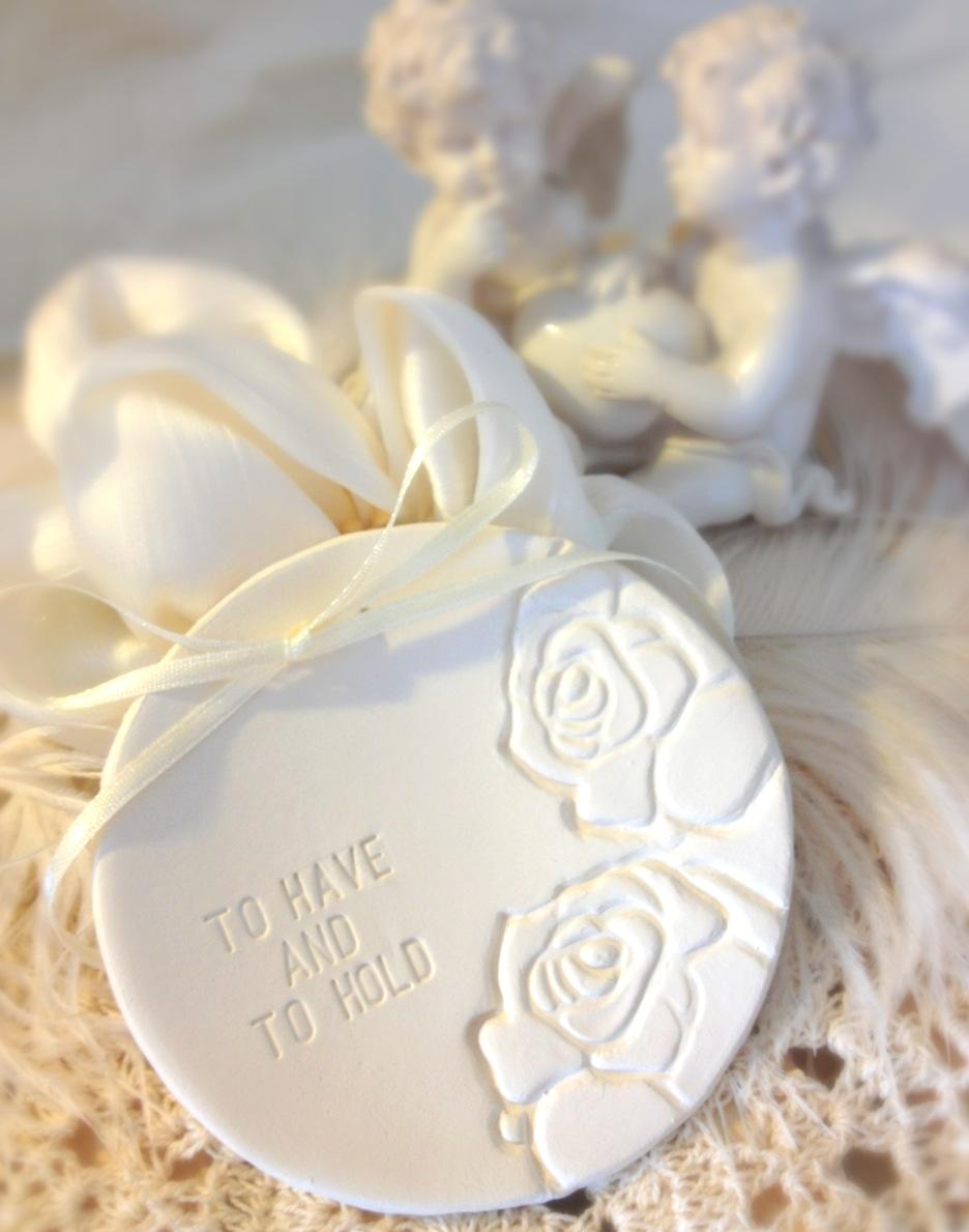 custom classic wedding ring bearer bowl with elegent rose imprints custom ring holder dish handma wedding ring holder CUSTOM Classic Wedding Ring Bearer Bowl with Elegent Rose Imprints Custom Ring Holder Dish
